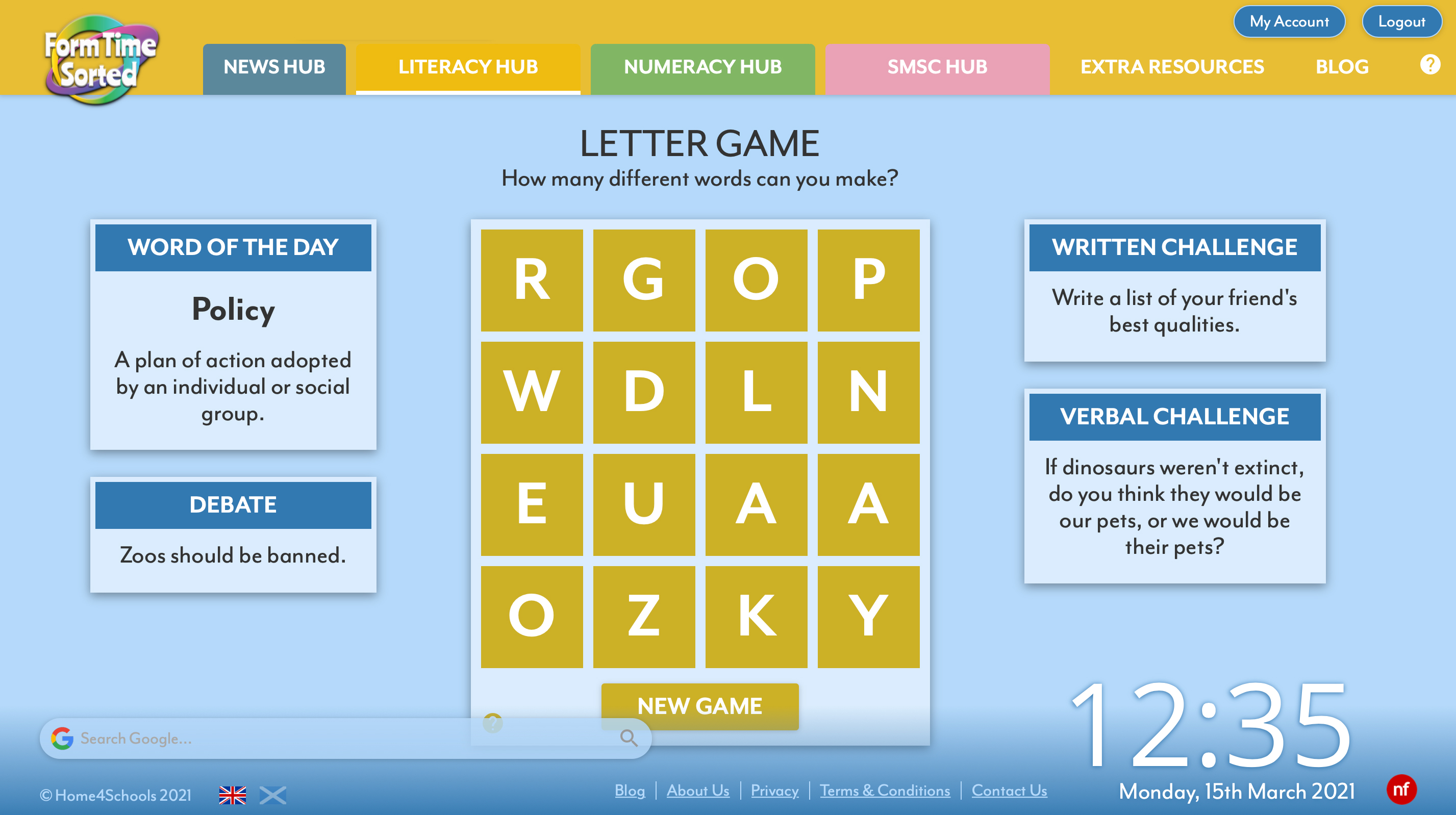 Literacy Hub Screenshot
